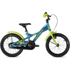 s'cool XXlite alloy 16 Kinder blue/lemon metalic